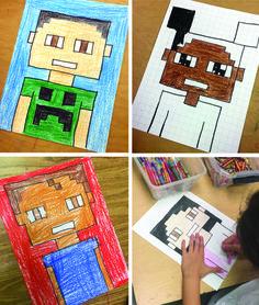 minecraft art projects