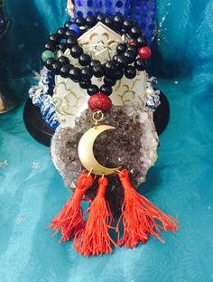 Pagan brayer beads invocation beads Goddess by TriquetraBoutique Agate Beads, Glass Beads, Invocation Prayer, Meditation Supplies, Pagan Festivals, Prayer Beads, Wreaths, Halloween, Flowers