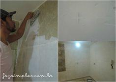 Aprenda como emassar as paredes com azulejos antigos em uma passo a passo muito simples e renove a decoração da cozinha e banheiro sem ter que passar por quebra quebra.