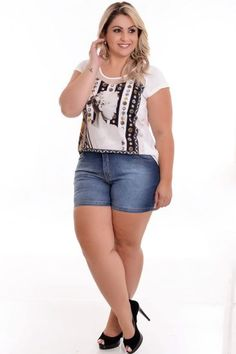 Plus Size Summer Outfit, Plus Size Casual, Summer Outfits, Curvy Women Fashion, Fashion Models, Womens Fashion, Elegance Plus Size, Pernas Sexy, Looks Plus Size