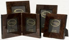 Four New Luxury MARLBOROUGH COLLECTION Polished Burl Wood Picture Photo Frames #Marlborough #Modern
