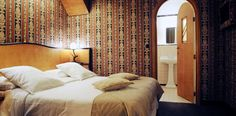 The Hotel Le Berger is an old property known for clandestine meetings, now beautifully renovated to reflect its original Art Deco style Large Curtains, Open Bathroom, Superior Room, Double Room, Romantic Getaways, Art Deco Fashion, Two By Two, Hotels, The Originals