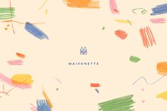 Lotta Nieminen designed the endearing branding for Maisonette, a children's e-tailer, which plays up the appeal of childlike creativity with a pattern made from coloured pencil scribbles. Web Design, Logo Design, Identity Design, Visual Identity, Brand Identity, Restaurant Branding, Logo Branding, Inspirations Boards, Doodle Patterns