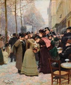 Victor Gabriel Gilbert — Mardi Gras Day, Confetti Battle on the Grands Boulevards. Gabriel, Mardi Gras, Jean Beraud, Paris Painting, Academic Art, Cleveland Museum Of Art, European Paintings, Historical Art, Victorian Art