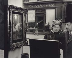 La Dame Indignée, Vitrine Galerie Romi, Paris, 1947 ~you know what he's looking at...