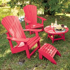 I don't have a very big patio, but nothing is too small for bright colors. I summer evenings (Rabbit Houses Balcony) Wood Patio Furniture, Balcony Furniture, Outdoor Lounge Furniture, Outdoor Chairs, Outdoor Decor, Outdoor Projects, Furniture Ideas, Adirondack Furniture, Interiors