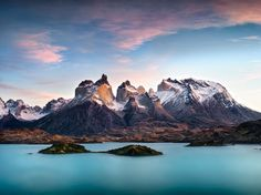 Photograph Cuernos del Paine and Pehoe lake at sunrise, Chile, March 2014 by Ignacio Palacios on 500px
