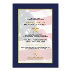 Military Retirement Party Invitations. $2.30 More