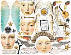 Collages, Collage Kunst, Clip Art, Vintage Paper Dolls, Scrapbook Journal, Collage Sheet, Soul Collage, Art Journal Inspiration, Paper Toys