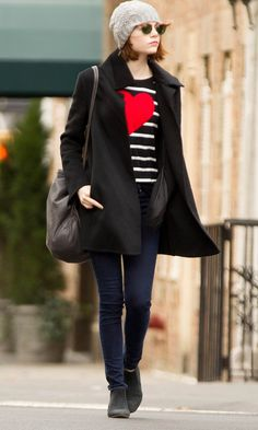 Emma Stone Styles Up A Super-Cute Jumper - Wednesday 26th November | InStyle UK