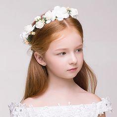 Wreaths Headpiece for flower girls Cheap Flowers, Pretty Flowers, Girls Accessories, Wedding Accessories, Accessories Online, Princess Flower Girl Dresses, Flower Girls, Outdoor Wreaths, Blonde Hair Girl