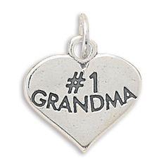 C005116 - Sterling Silver #1 Grandma Charm
