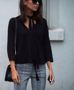 Très chic la #blouse à lavallière donne un #style fou !