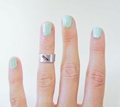 Feather Custom knuckle ring midi ring knuckle ring by ZennedOut, $20.00