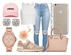 """""""Hold Up"""" by macprincess722 ❤ liked on Polyvore featuring Case-Mate, Michael Kors, River Island, New Balance and FOSSIL"""