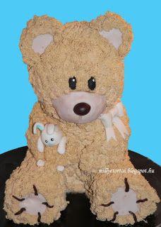 3 D Teddy Bear cake
