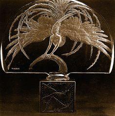 Lalique Firebird perfume bottle.