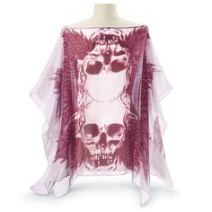 407a1b5d16 Winged Skulls Poncho - Women s Clothing   Symbolic Jewelry – Sexy