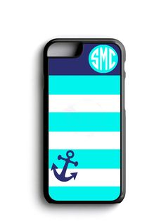 Anchor with Monogram Personalized iPhone Case
