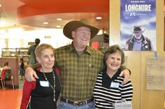 Author Craig Johnson and a couple of his biggest fans.