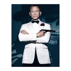 Spectre James Bond Ivory Tuxedo ($189) ❤ liked on Polyvore featuring tuxedo suit, ivory tuxedo and dinner suit