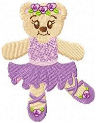 Ballerina Bear - 4x4 | Ballet-Dance | Machine Embroidery Designs | SWAKembroidery.com Oma's Place