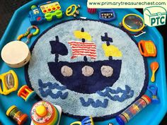 Transport Themed Sensory Toys/Instruments/Books / Tuff Tray Ideas and Activities - Primary Treasure Chest
