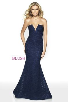 Check out the latest Blush Prom 11779 dresses at prom dress stores authorized by the International Prom Association. Mermaid Prom Dresses Lace, Blush Prom Dress, Lace Mermaid, Strapless Dress Formal, Formal Dresses, Prom Dress Stores, Designer Prom Dresses, Occasion Wear, Evening Dresses