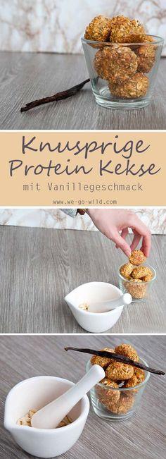 Protein Kekse Rezept mit Vanillegeschmack