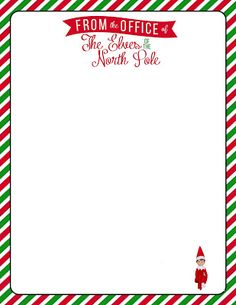 Free, Printable Letterhead for your Elf on the Shelf.