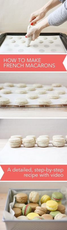 How to Make French Macarons, a Detailed, Step-by-Step Recipe with Video // http://FoodNouveau.com