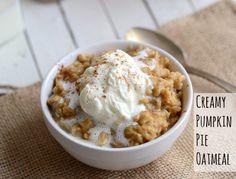 pumpkin pie oatmeal! yum