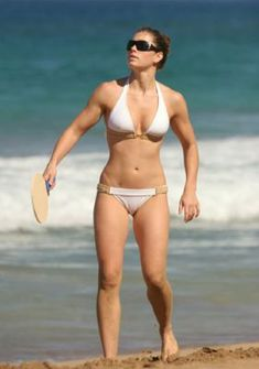 Jessica Biel.  Strong is sexy!