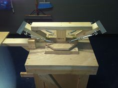 The homemade screen printing press. #screenprinting #diy