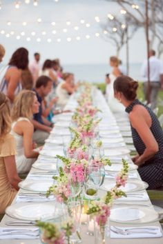 pink infused tablescape   Photography by jenphilips.com   Design by http://www.thedazzlingdetails.com   Read more - http://www.stylemepretty.com/2013/08/02/punta-de-mita-wedding-from-the-dazzling-details/