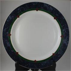 "Pfaltzgraff Amalfi Classic Blue Green Burgundy 10.75"" Dinner Plate 4 Available | eBay"