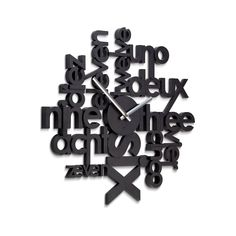 Articolo: 118990040Using language and type as the board space for its numerals, lingua becomes a cosmopolitan wall clock easily recognized by modern globetrotters and linguists alike.