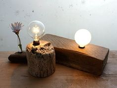 wood lightbulb
