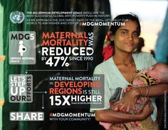 Twitter / UNFPA: Building #MDGmomentum for maternal health: MDG5 Improve maternal health - Maternal mortality was reduced by 47% since 1990.