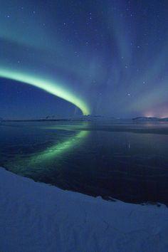 'Aurora Borealis' - photo by fridgeirsson, via Flickr;  Iceland