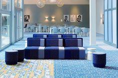Centrale vergaderlocatie voor het Nederlandse EU-voorzitterschap, Amsterdam. Moroso - Sushi collectie speciale Blue Edition. Foto: Gispen, Chris van Koeverden
