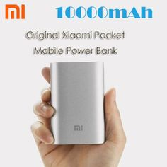 Original Xiaomi Pocket 10000mAh Mobile Power Bank Portable Charger for Samsung Galaxy iPad iPhone 6 Plus 6 5 5S 5C HTC ONE M9 Tablet etc..