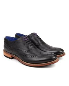 Oxford Brogue shoe - Black | Shoes | Ted Baker