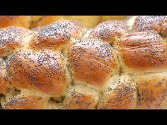 Hatos fonás, kalács, barhesz, challah   Fűszer és Lélek Bagel, Challah, Bread, Youtube, Brot, Baking, Breads, Buns, Youtubers