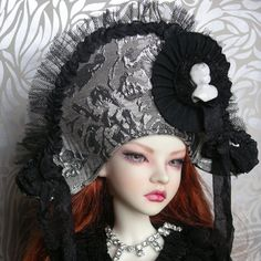 Silver Brocade Buccaneer Hat for BJD dolls by freakylittlethings, £38.00