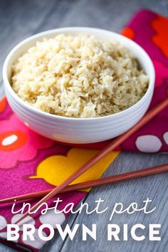 The EASIEST and fastest way to make brown rice! Put your pressure cooker or Instant Pot to good use in this failproof method! #brownrice #instantpot #pressurecooker #easy  via @ourbestbites