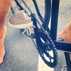 Upcycle converse shoes to barefoot bicycle pedals. Bike parts. Alta bikes. #barefoot #pedals #upcycle