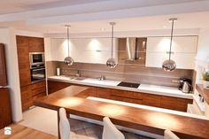 Średnia otwarta kuchnia w kształcie litery u, styl nowoczesny - zdjęcie od All Design Agnieszka Lorenc