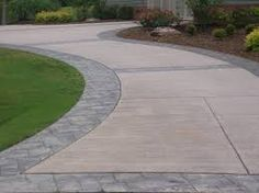 Image result for half circle asphalt driveways with Fieldstone border