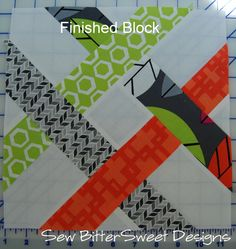 Great idea for scraps. Riley's Block - Sew Intertwined QAL